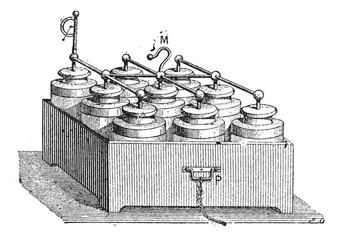 Antike Batterie