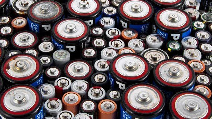 Batterien von oben