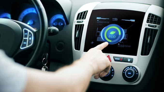 E-Auto Display ist umweltschonend