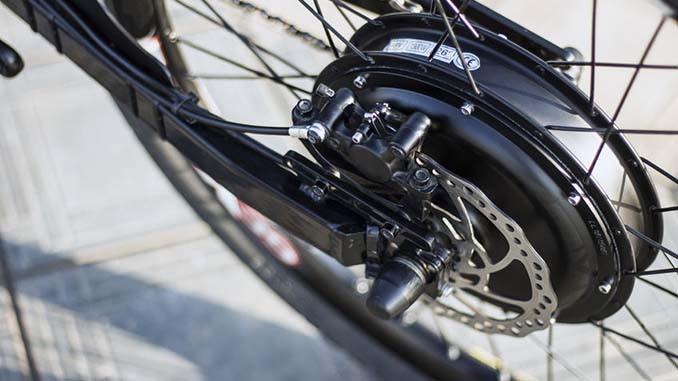 E-Bike mit Hinterradnabenmotor